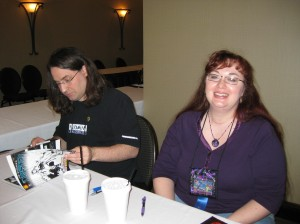 Authors Jim and Shannon Butcher at ConDFW