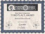 FenCon Award Certificate